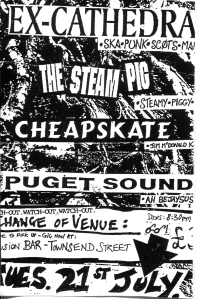 Ex-Cathedra, The Steam Pig, Cheapskate, and Puget Sound at Fusion Bar i
