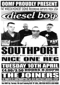 Diesel Boy, Southport, and Nice One Reg at the Joiners in Southampton